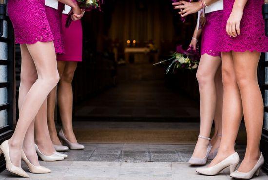 skirt with heel