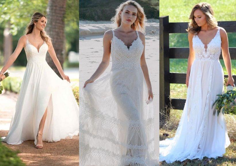 Boho Type Beach Wedding Dresses