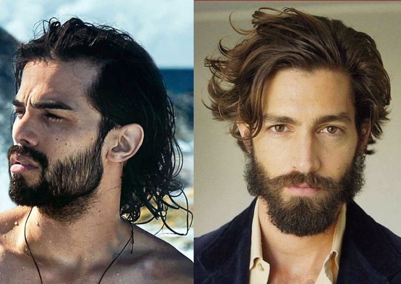 Long Hairstyles For Men With Beards