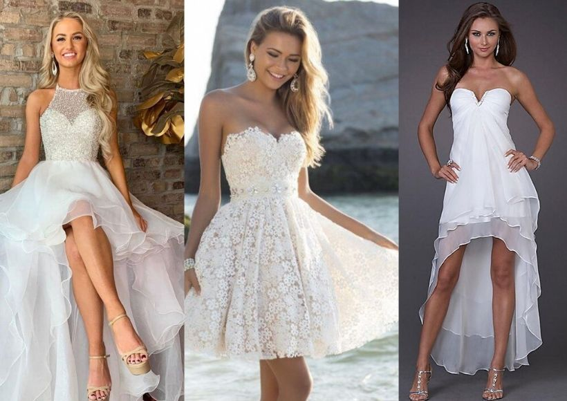 Short Type Dresses For A Beach Wedding