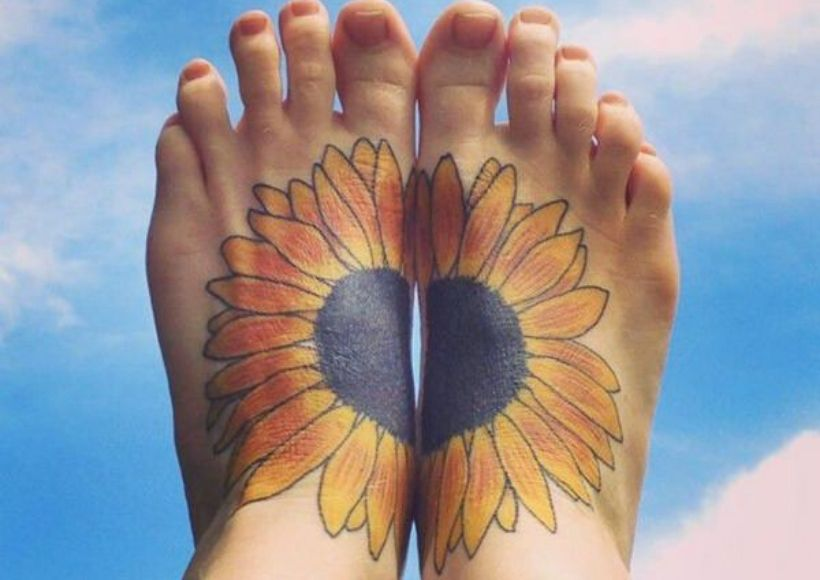 Sky Sunflower Tattoo