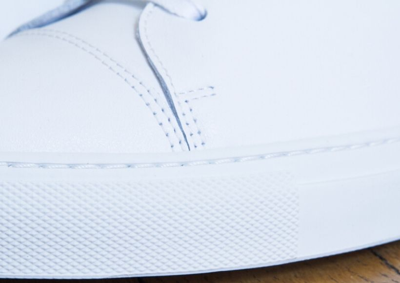white sneakers Finishes
