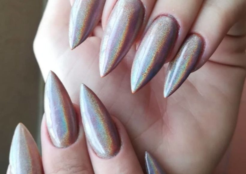 slightly silver color nails